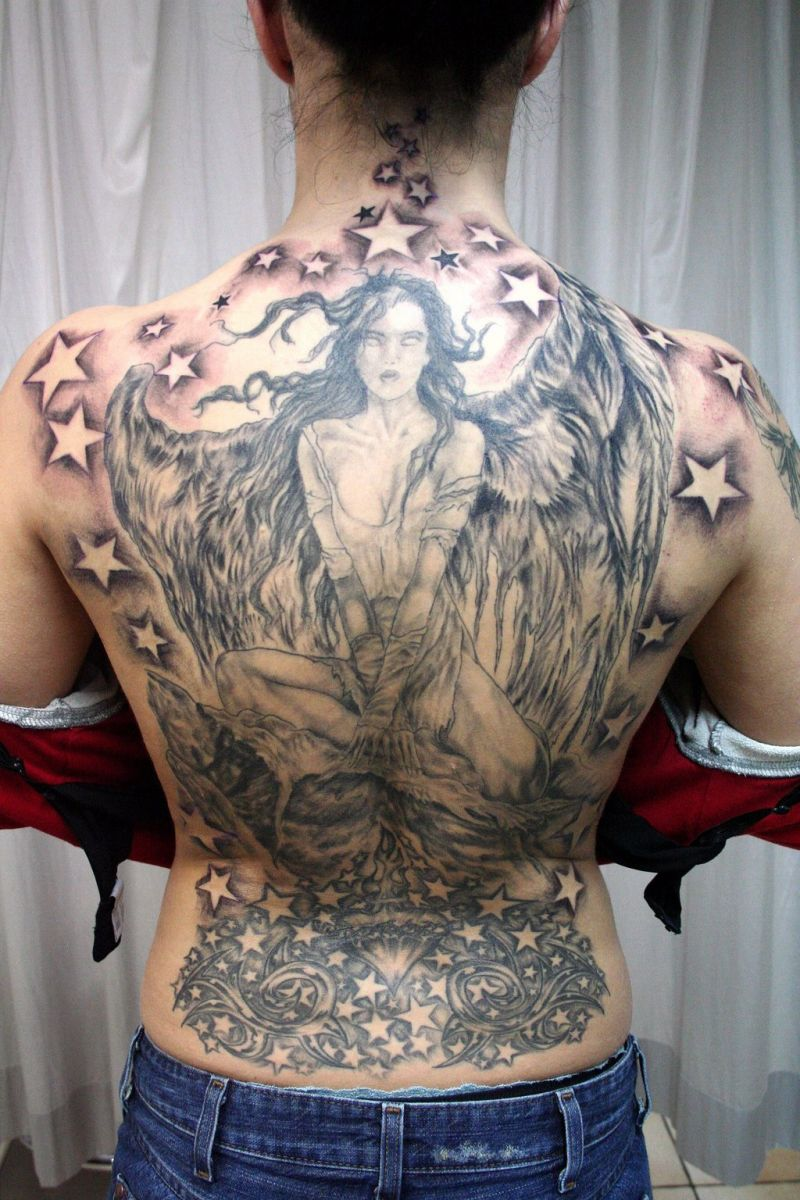 angel tattoos meaning tattoosphoto. Black Bedroom Furniture Sets. Home Design Ideas