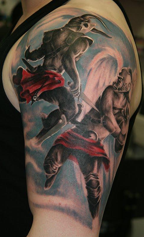 Angel vs Devil Tattoo Designs