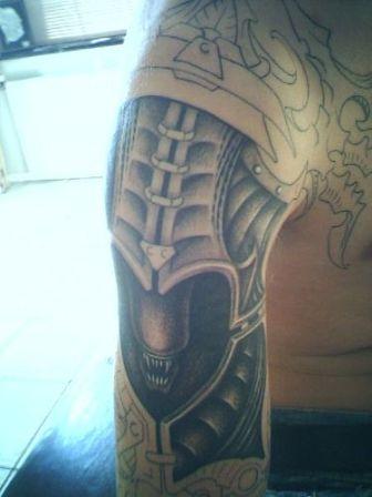 alien tattoo for men tattoosphoto. Black Bedroom Furniture Sets. Home Design Ideas