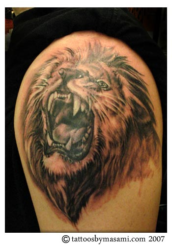 lion tattoos tattoosphoto. Black Bedroom Furniture Sets. Home Design Ideas