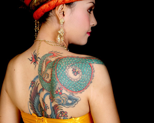 Asian photo tattoo woman