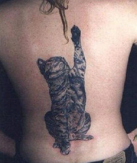 Cat Playing Tattoo