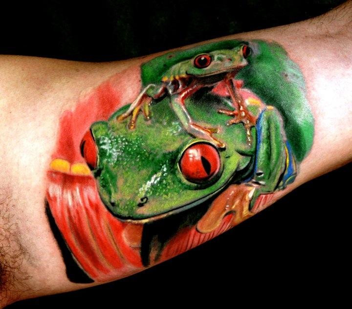 frog tattoos tattoosphoto. Black Bedroom Furniture Sets. Home Design Ideas